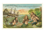 Victorian Advertisement for Hair Tonic, Mermaids Prints