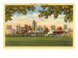 Skyline, Dallas, Texas Kunstdruck