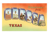 Greetings from Odessa, Texas Print