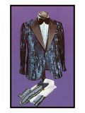 Shiny Blue Tuxedo Coat and Shirts Art