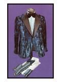 Shiny Blue Tuxedo Coat and Shirts Art