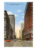 Main Street, Fort Worth, Texas Print