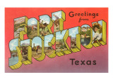 Greetings from Fort Stockton, Texas Prints