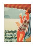 German Flapper in Bathing Suit Poster
