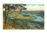 Moccasin Bend, Lookout Mountain, Tennessee Print