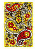 Psychedelic Paisleys, Yellow and Red Prints