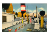 Sun and Sports Deck of Ocean Liner Poster