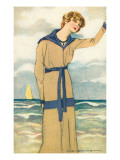 Stylish Woman by the Sea Posters