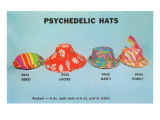 Psychedelic Hats Prints