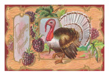 Turkey with Grapes Print