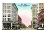 Main Street, Houston, Texas Print