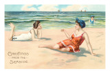 Greetings from the Seaside, Victorians on Beach Prints