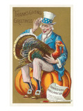 Greetings, Uncle Sam with Turkey Prints