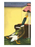 Piano Playing Duck Posters