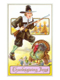 Joys, Pilgrim with Musket and Turkey Posters