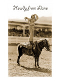 Greetings from Llano, Texas, Girl on Pony Print