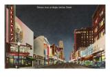 Night, Theatre Row, Dallas, Texas Prints