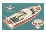 Fifties Speedboat Print