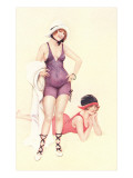 Women in Bathing Costumes Prints
