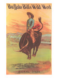 Buffalo Bill's Wild West Show Poster, Bucking Steer Kunstdrucke
