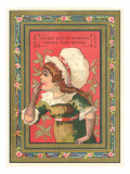 Little Girl in Bonnet Poster