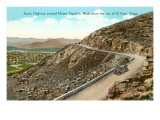 Highway on Mt. Franklin, El Paso, Texas Posters