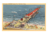 Pleasure Pier, Galveston, Texas Prints