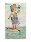 Victorian Girl on Floating Banjo Prints