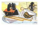 Captain's Hat, Binoculars, Sextant Posters