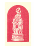 Red-Toned Victorian Statuary Posters