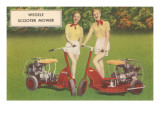 Scooter Mower Advertisement Posters