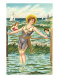 Victorians at the Beach Prints