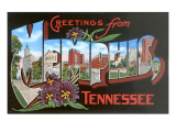 Greetings from Memphis, Tennessee Prints