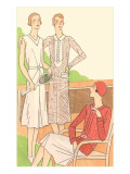 Flappers on the Tennis Court Print