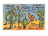 Cartoon Depicting Kinds of Cacti Print