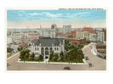 Geschäftsviertel, Fort Worth, Texas Kunstdrucke