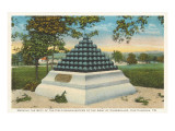 Pyramid of Cannonballs, Chattanooga, Tennessee Print