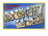 Greetings from Rock City Gardens, Tennessee Posters