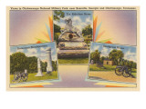 Views of Chickamauga Battlefield, Chattanooga, Tennessee Poster