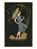 Flapper with Parasol Art