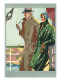 Couple on Ocean Liner Prints