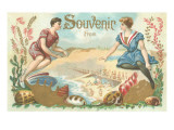 Vintage Seaside Souvenir Prints