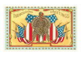 Greetings, Patriotic Turkey Prints
