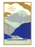 Art Deco Ocean Liner, Have a Wonderful Cruise Prints