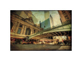 Chrysler Over Grand Central Giclee Print by Eric Wood
