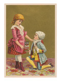 Children Playing Dress-Up Print