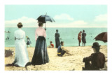 Old Fashioned Beach Scene Posters