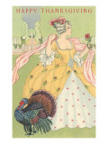 Happy Thanksgiving, Grande Dame with Turkey Print