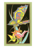 Papillon, Psychedelic Butterfly and Flower Posters