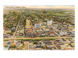 Overview of Abilene, Texas Kunstdrucke